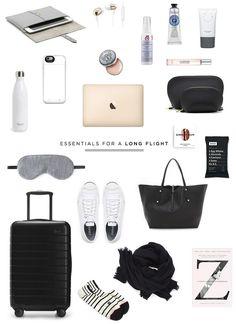 travel essentials for a long flight | Danielle Moss