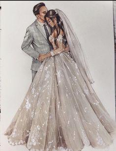 Wedding Dress Illustrations, Wedding Dress Sketches, Wedding Illustration, Illustration Mode, Wedding Dresses, Wedding Logo Design, Photos Booth, Megan Hess, Fashion Drawing Dresses