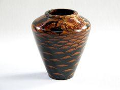 "Pine Cone,Poly Resin Vase, 41/2"" x 21/2"""