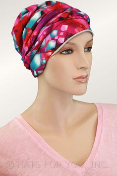 $21.75 - Teal Arrows Short Tail Head wrap #cancer #chemo #alopecia