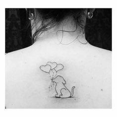 Tatuagem cachorro e coração