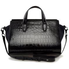 ALEXANDER WANG Pelican Satchel Bags   ❤ liked on Polyvore (see more alexander wang handbags)
