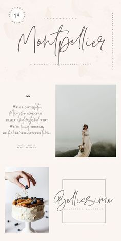 Montpellier Font is a handwritten signature font that is perfect for branding, . - Montpellier Font is a handwritten signature font that is perfect for branding, social media header - Font Design, Design Poster, Branding Design, Vector Design, Graphic Design, Typography Fonts, Typography Design, Script Fonts, Vintage Typography