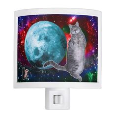 Moon Dancer Bosco Night Light. Moon Dancer Bosco will be happy to illuminate your darkened evening sojourns. And, she will guard against mice creeping up on you in the dark. Over 3000 products at my Zazzle online store. Open 24/7 -- World wide! Custom one-of-a-kind items shipped to your door. This design is exclusive to greg_lloyd_arts. No one else has it.   http://www.zazzle.com/greg_lloyd_arts*?rf=238198296477835081
