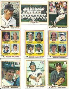 1978 Topps Vintage TIGERS team set of 27 cards Morris & Whitaker RCs! Fidrych #DetroitTigers