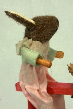 Antique German Easter Rabbits on Windup Rocker Toy C1910 | eBay