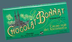 Image d'une tablette de chocolat Bonnat Grand Cru d'Exception 75% de cacao Real Del Xoconusco, dans son emballage vert foncé.