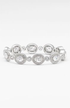 will go great with the earrings im borrowing from my mother :) Nadri Oval All Around Hinged Bangle available at Nordstrom