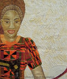 detail, Sewing Sister by Allison Wilbur, Solar Sister project. Photo by Quilt Inspiration.
