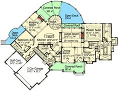 Floor 1, house plan 15662GE. I love the morning kitchen for my coffee off the master bedroom. This is my favorite house plan.