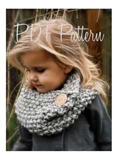 Knitting PATTERN-The Londynn Cowl (Toddler, Child, and Adult sizes) also can be Made to Order. $5,50, via Etsy.
