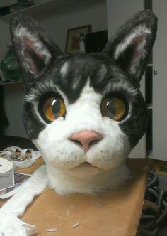 PETUNIA - how to make a paper mache cat head