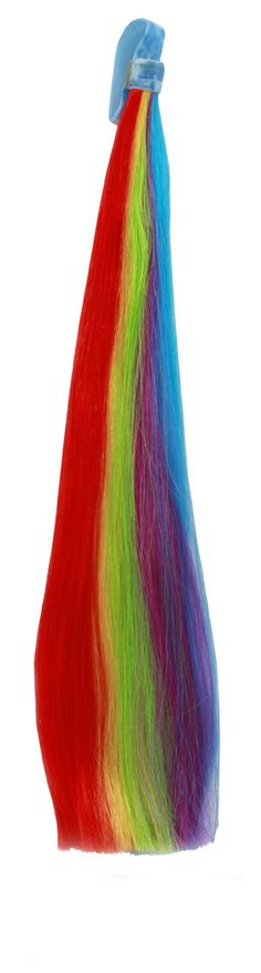 This brightly colored My Little Pony Rainbow Dash Tail will bring rainbows and sunshine to even the gloomiest days. This adorable Rainbow Dash Tail features hook-and-loop so you can attach the tail to