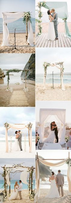 Wedding Venues Beautiful arches for the perfect beach wedding ceremony! Beach Wedding Decorations, Wedding Themes, Wedding Colors, Wedding Ideas, Wedding Dresses, Budget Wedding, Ceremony Decorations, Floral Wedding, Wedding Photos