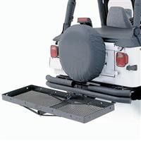 Universal Jeep Stainless Receiver Rack - Fits all 2in Receiver Hitches