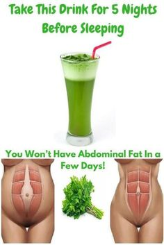 Take This Incredible Drink For 5 Nights Before Sleeping And You Won't Have Abdominal Fat In A Few Days!