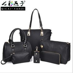 NEW ARRIVAL!   QICAI.YANZI 2017 ...   http://www.zxeus.com/products/qicai-yanzi-2017-ladies-candy-color-handbags-6-in-1-big-shoulder-bag-nylon-women-messenger-bags-small-packets-drop-shipping-p492?utm_campaign=social_autopilot&utm_source=pin&utm_medium=pin