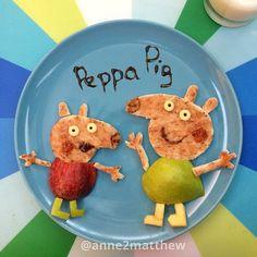 Peppa Pig, breakfast food art