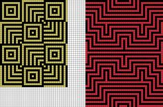 Grid designs from Grid Paint. Tapestry Crochet Patterns, Mosaic Patterns, Loom Patterns, Beading Patterns, Cross Stitch Patterns, Quilt Patterns, Crochet Blocks, Crochet Chart, Graph Paper Art