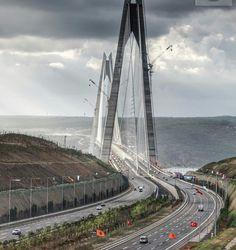 Selim I bin Bayezid bin Mehmed bin Murad Bridge. İstanbul's 3. bridge. TURKEY.