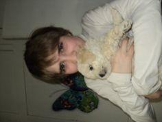 mi niño con un cachorro de mi sally