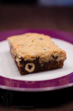 Brookies au beurre de cacahuètes et au chocolat aux noisettes | Piratage Culinaire