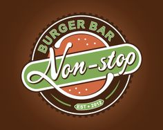 Non-stop by ragerabbit - Vintage Badge Logo - logopond.com