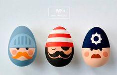 Ideia criativa para ovo de Páscoa: pintados
