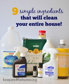 Cleaning your house naturally doesn't have to be expensive, time consuming, or require much at all! Just take these nine simple ingredients to get your start.