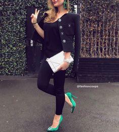 Strike a pose ✌🏼 via ♠️ Heels Outfits, Strike A Pose, Ootd, Style Instagram, Poses, Black, Fashion, Figure Poses, Moda