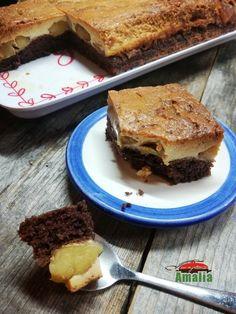 Tort rasturnat cu mere, banane si crema de zahar ars Caramel, Desserts, Food, Banana, Toffee, Postres, Deserts, Hoods, Meals