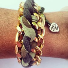 Camo gold bracelet!  So fun!  #StudioCInspiration