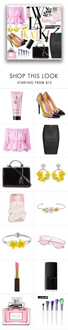 """fashionable"" by ztugceuslu ❤ liked on Polyvore featuring Yves Saint Laurent, Fendi, Dondup, Jitrois, Mark Cross, VANINA, ban.do, LC Lauren Conrad, Kevyn Aucoin and NARS Cosmetics"