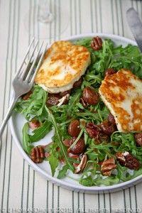 Halloumi, roasted grape & pecan salad - Cooksister | Food, Travel, Photography