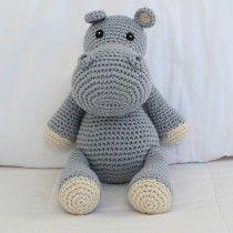 Hipopótamo em Crochê