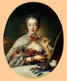 Francois Boucher - Ritratto di Madame de Pompadour