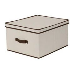 """Effortlessly organize your home office, bedroom, or master bath with this essential fabric storage box, perfect for stowing craft supplies, books, and extra linens.    Product: Storage boxConstruction Material: Cotton and polyester blendColor: NaturalFeatures: Folds flat when not in useDimensions: 10"""" H x 16"""" W x 19"""" D"""