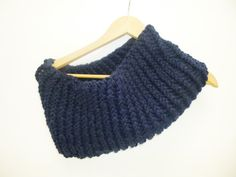 Navy blue Cowl Scarf  infinity scarf gifts  Hand by PIPPADUSHES, $25.00