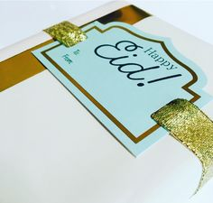 Elegant Mint 'Happy Eid' tags that will take your Eid gift wrapping to the next level!   kanzistore.com
