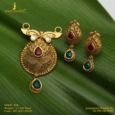 Gold 916 Premium Design Get in touch with us on Pendant Set, Gold Pendant, Pendant Jewelry, Beaded Jewelry, Gold Jhumka Earrings, Gold Drop Earrings, Gold Necklace, Latest Jewellery, Jewellery Designs
