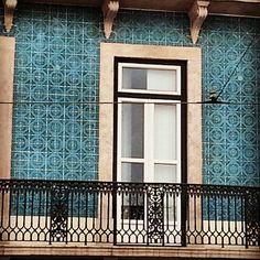 #lisbontiles on a deep blue colors