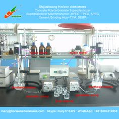 Horizon Admixtures welcome your factory visit to see the synthesis of concrete polycarboxylate superplasticizer. We provide technical support for the PCE synthesis.