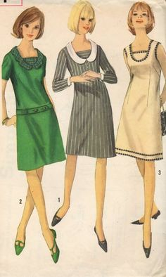 collar and dress, vintage pattern