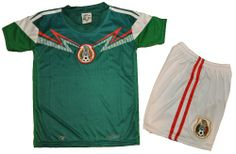 Amazon.com   Mexico Away Soccer Kids Set Size 2-4-6-8 (2)   Sports Fan  Soccer Equipment   Sports   Outdoors 0a8c99c97