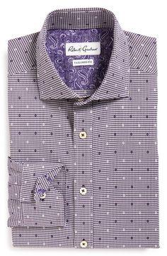 Robert Graham 'Romano' Tailored Fit Check Dress Shirt