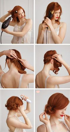 Image result for easiest way to create a 1920`s hair style for long hair