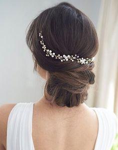 Short Hair Styles Easy, Medium Hair Styles, Curly Hair Styles, Rhinestone Headband, Halo Headband, Wedding Headband, Bridal Hat, Easy Hairstyles For Medium Hair, Prom Hairstyles For Medium Hair