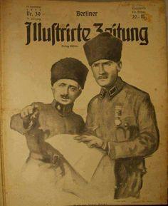 1922 Alman gazetesi.Refet Bele ve Atatürk