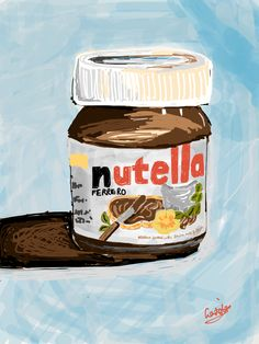 trying out Nutella drawing on iPad XP Looks good