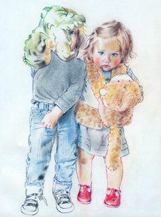 Anna Roberts  Pastel, 2012, Drawing       Monkey and Crocodile